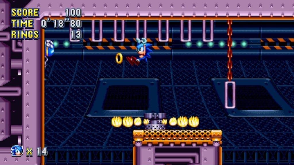 Sonic Mania Flying Battery Act 1 screenshot