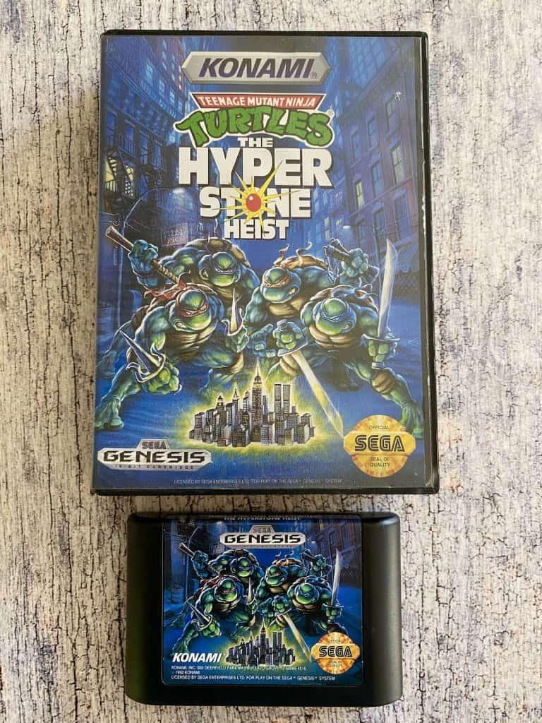 Teenage Mutant Ninja Turtles Hyperstone Heist box and cartridge