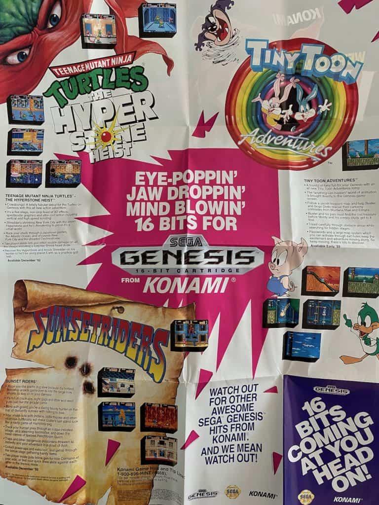 Sega Genesis Konami Game poster