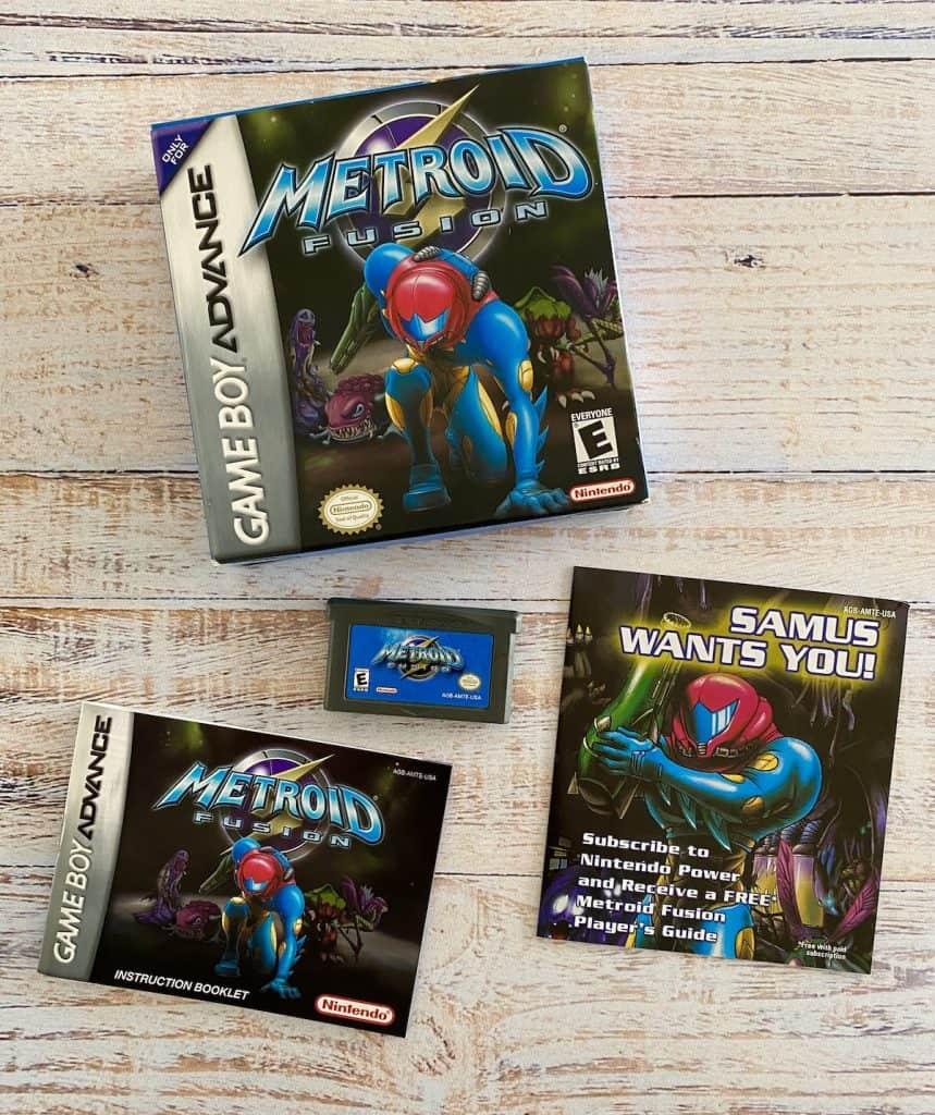 Metroid Fusion box, cart, manual, and insert