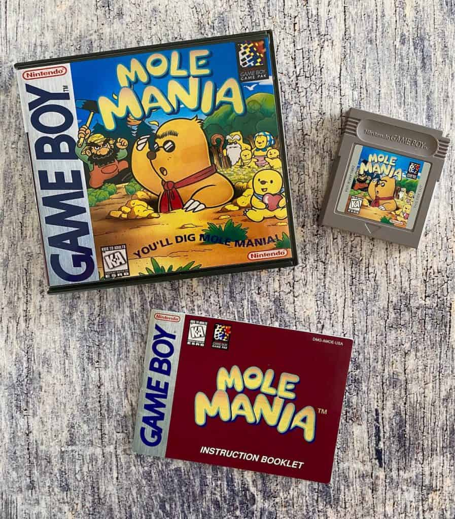 Mole Mania box, cart, and manual