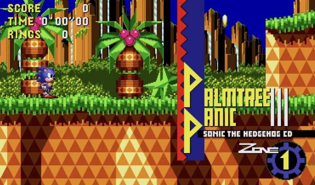 Sonic CD Palmtree Panic screenshot