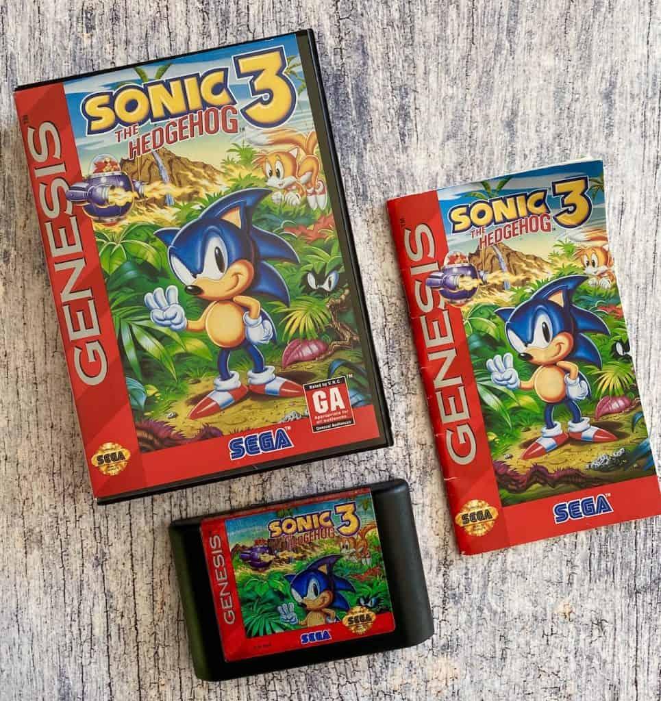 Sonic 3 box, cart, and manual