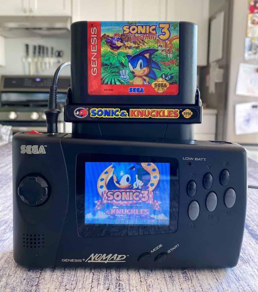 Sonic 3 & Knuckles carts played in Sega Genesis Nomad