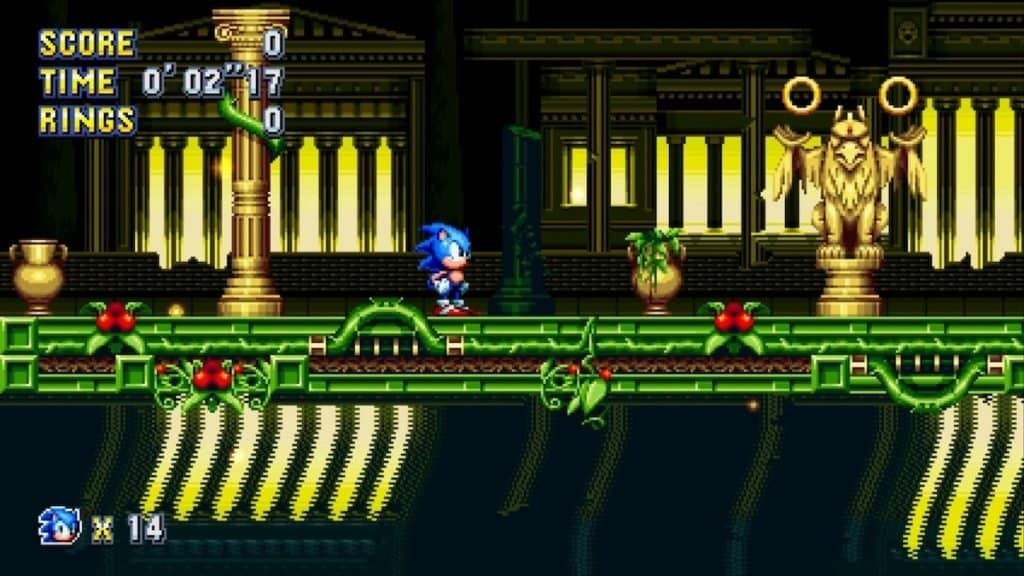 Stardust Speedway Act 1 screenshot from Sonic Mania