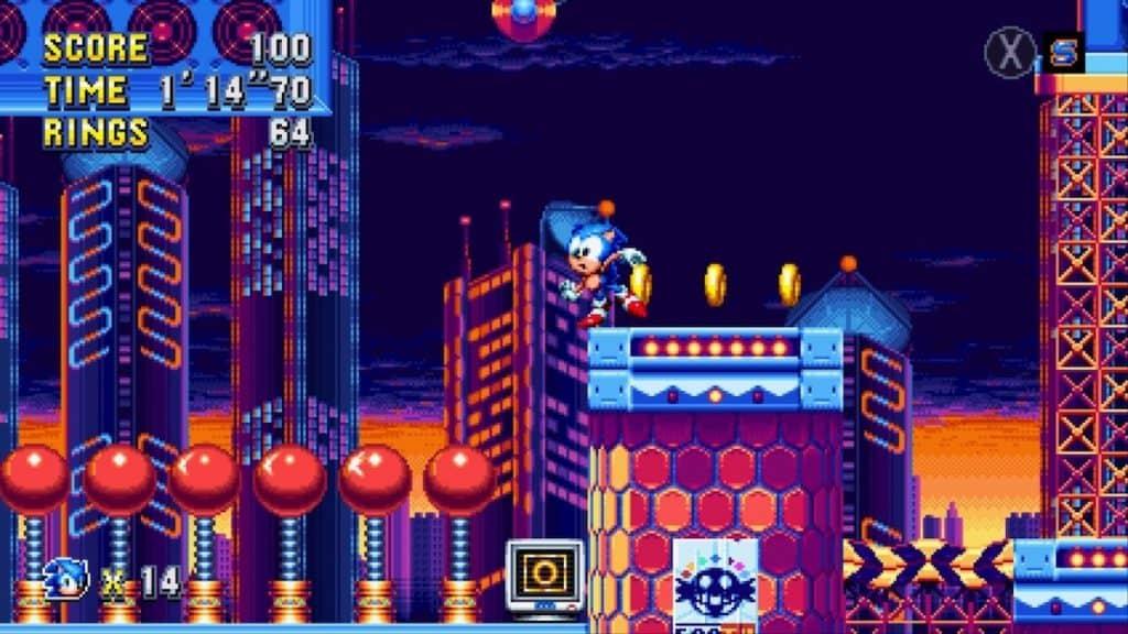 Sonic Mania Studiopolis Act 1 screenshot