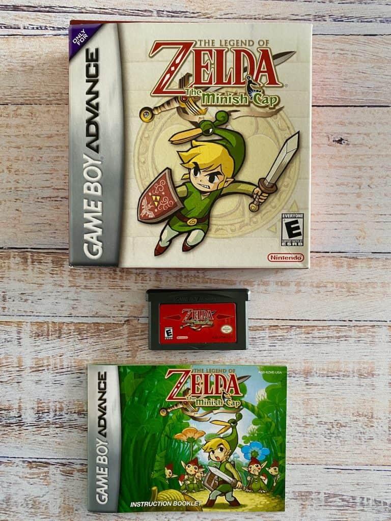Zelda Minish Cap box, cart, and manual