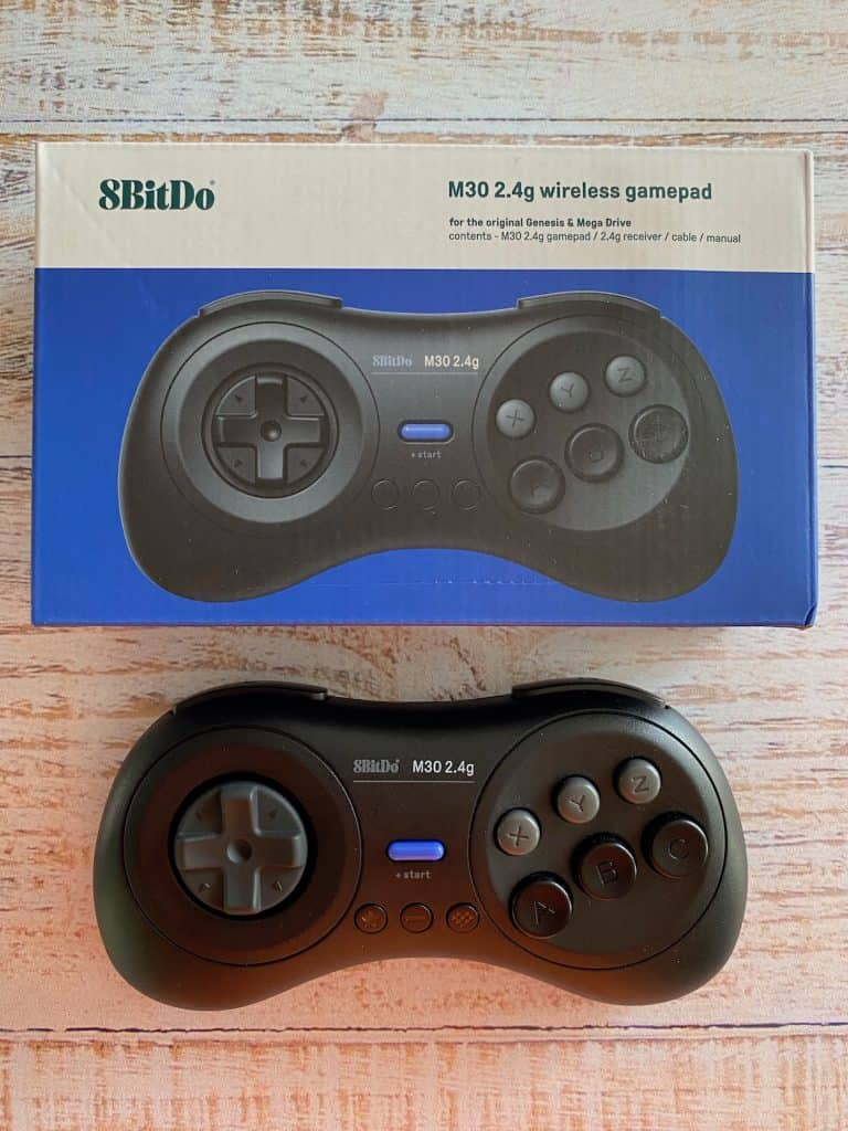 8bitdo original Genesis wireless controller and box