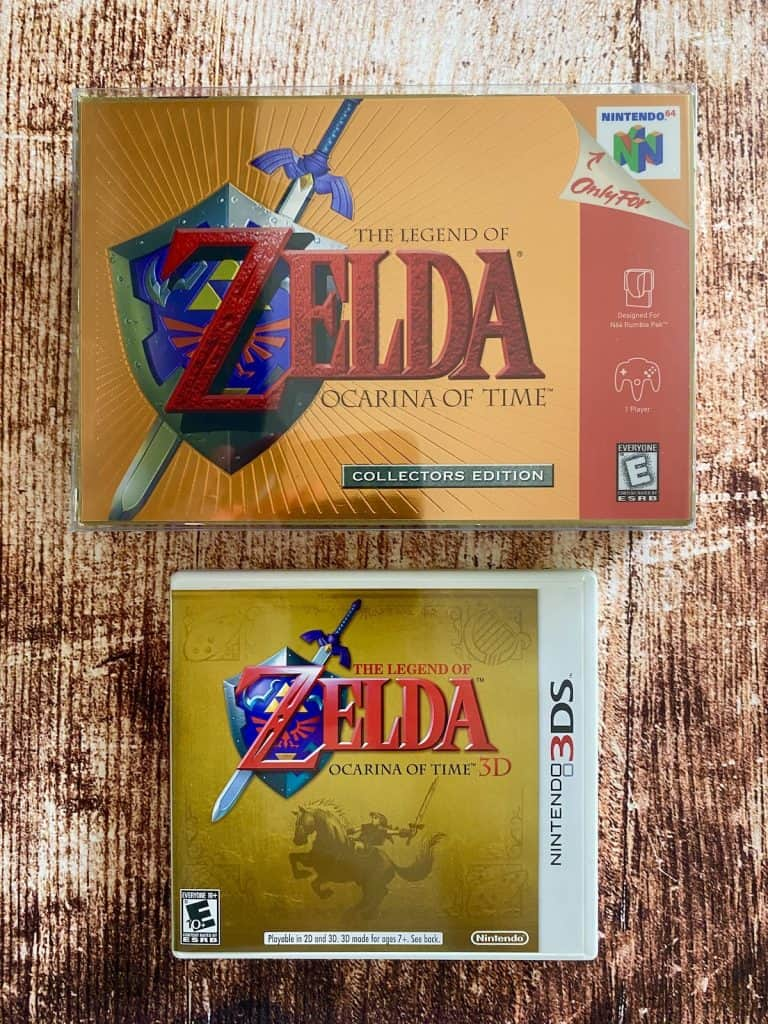 Ocarina of Time N64 collector's edition on N64 and 3DS