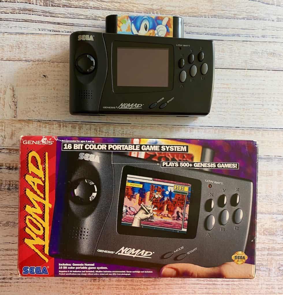 Sega Genesis Nomad with Sonic 1, plus box