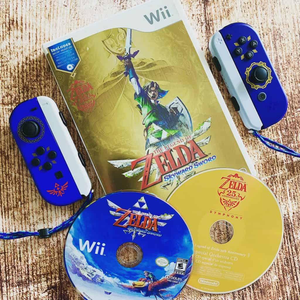 Zelda Skyward Sword for Wii with 25th Anniversary Symphony CD and Skyward Sword Joy Cons
