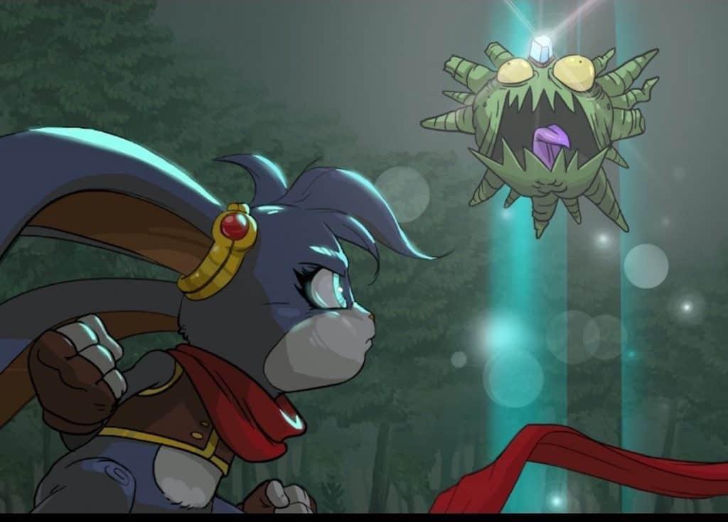 Kaze and the Wild Masks first boss end cutscene