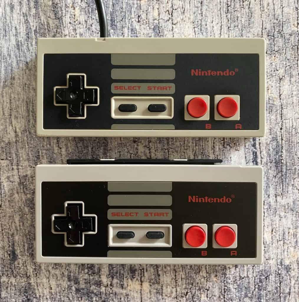 Original NES controller and Switch NES controller