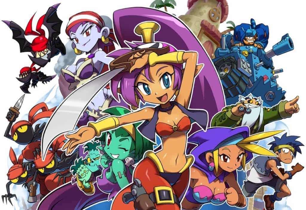 Shantae and the Pirate's Curse title screen
