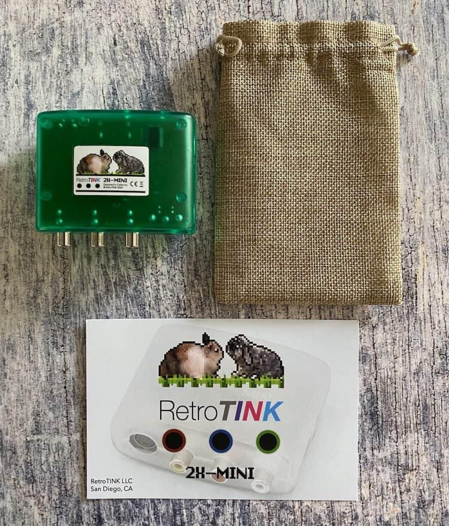 RetroTINK 2X Mini with bag and box card