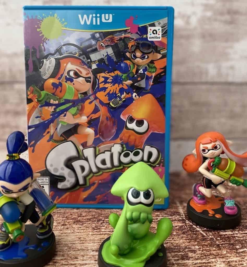 Splatoon Wii U with three amiibo