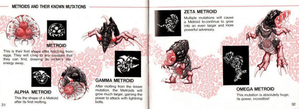 Metroid II Metroid evolutions from manual