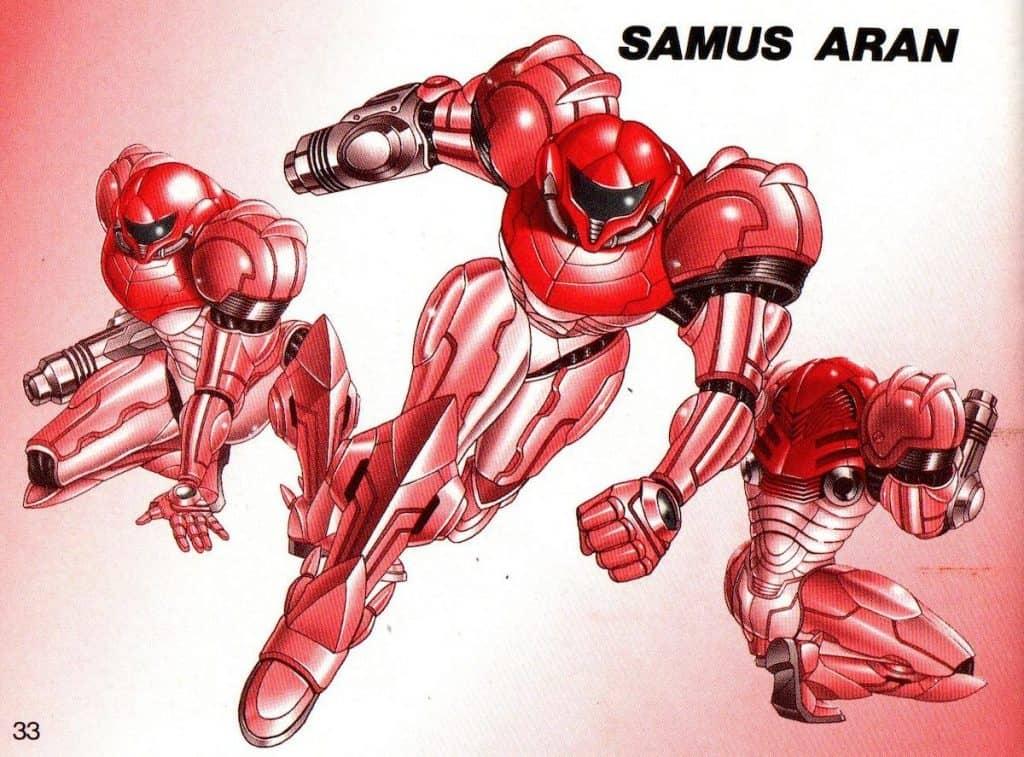 Metroid II manual Samus pictures