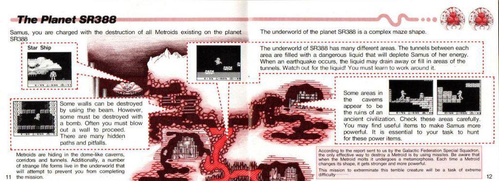 SR388 map from Metroid II manual