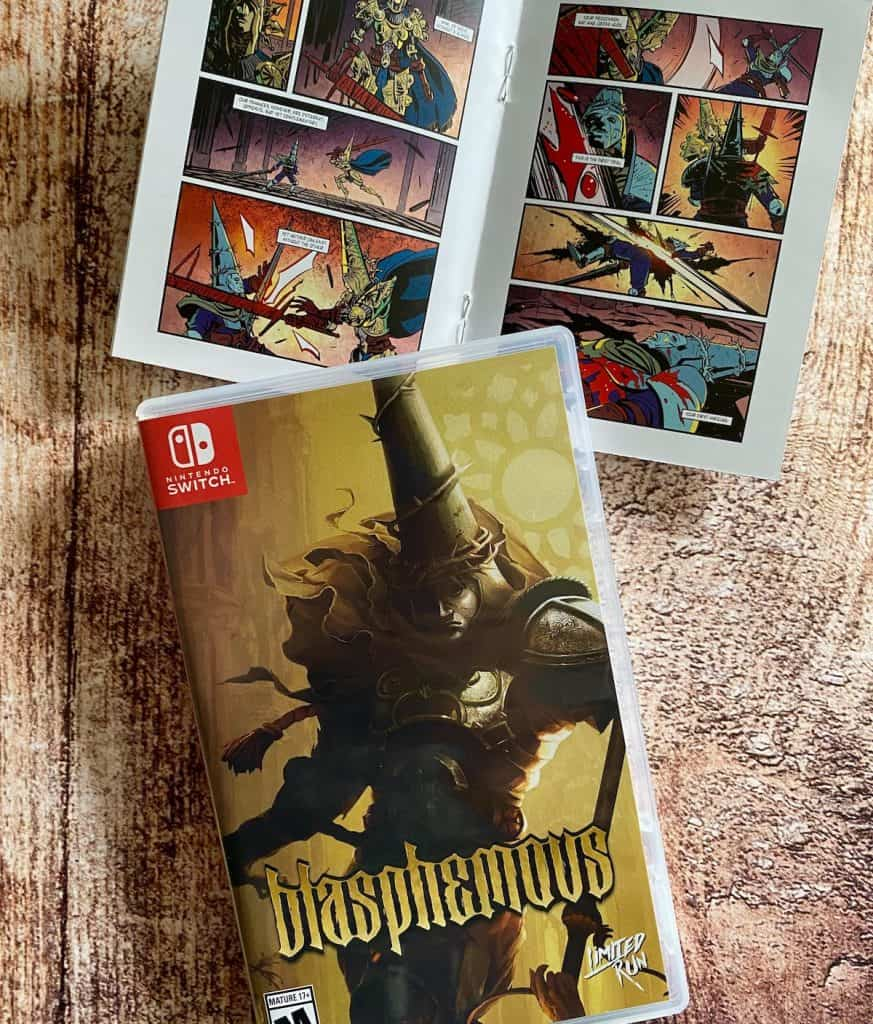 Blasphemous Switch physical with comic