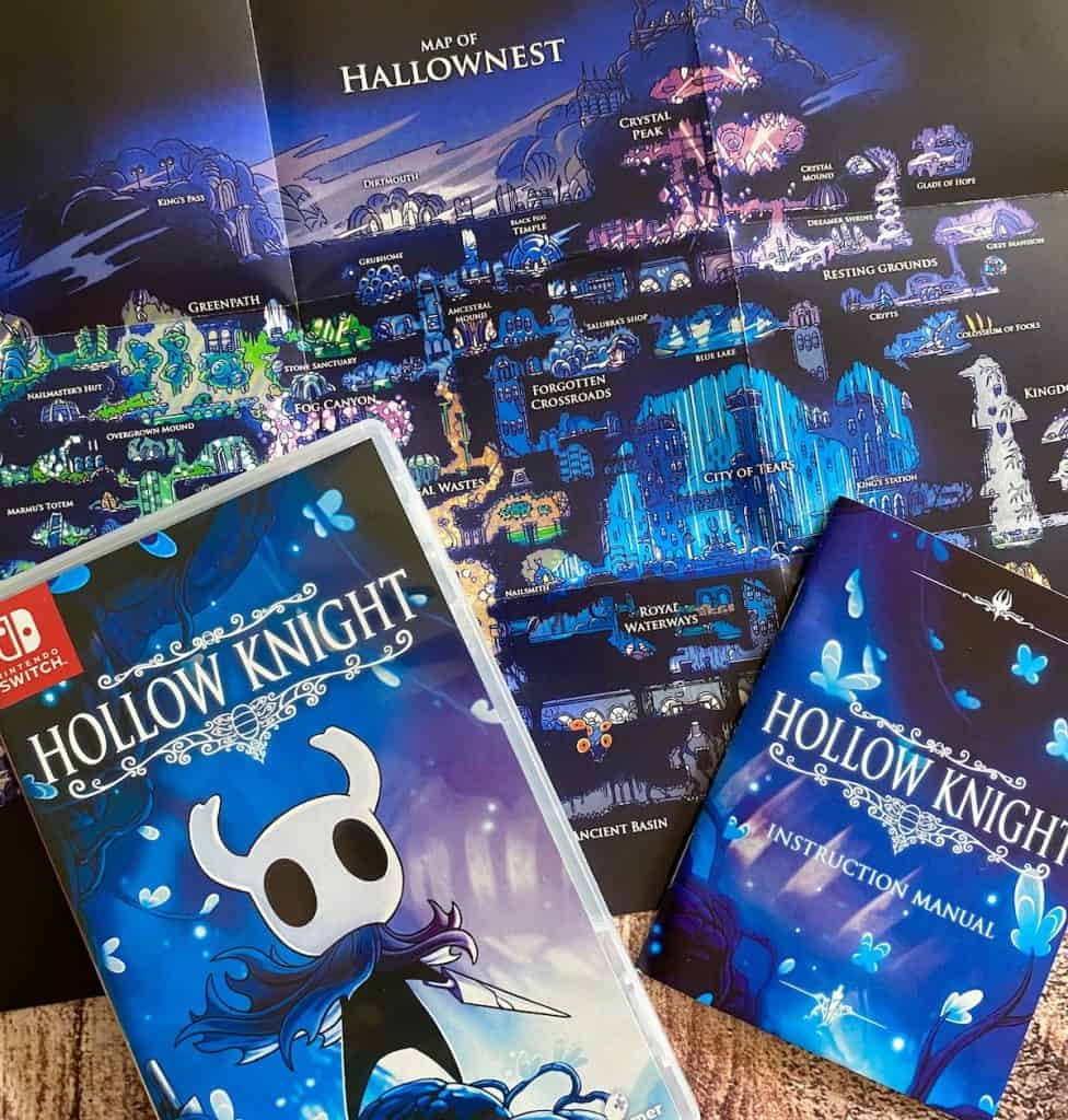 Hollow Knight Switch physical with manual and map of Hallownest