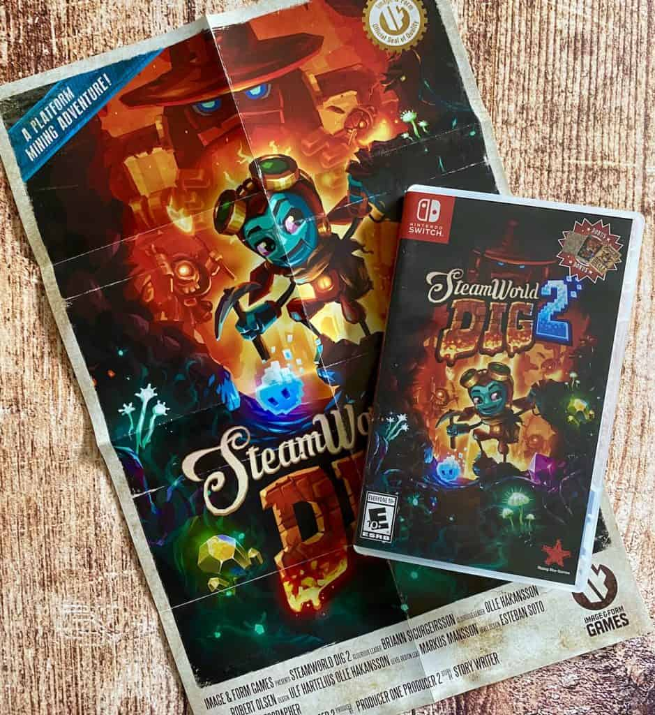 SteamWorld Dig 2 on Switch physical box with poster
